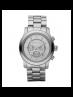 Michael Kors Ladies  Runway Oversized Silver-Tone Watch MK8086