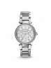 Michael Kors Ladies Mini Parker Pavé Silver-Tone Watch MK5615