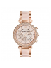 Michael Kors Ladies  Parker Rose Gold-Tone Blush Acetate Watch MK5896