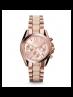Michael Kors Ladies Mini Bradshaw Acetate and Rose Gold-Tone Watch MK6066