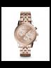Michael Kors Ladies Ritz Rose Gold-Tone Watch MK6077