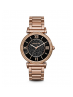 Michael Kors Ladies  Catlin Pavé Onyx and Rose Gold-Tone Watch MK3356