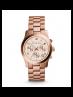 Michael Kors Ladies Rose Gold-Tone Chronograph Runway Watch MK5128